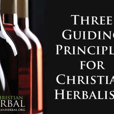Three Guiding Principles for Christian Herbalists
